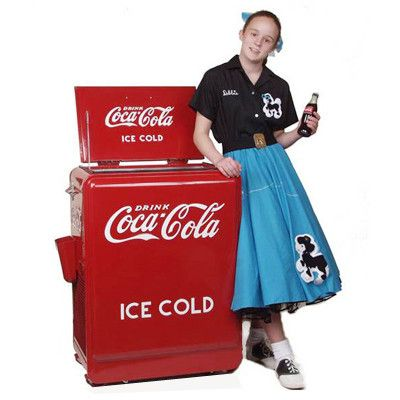 """Take a blast to the past with this wonderful exact replica of the famous Westinghouse Junior Coca Coke Machines. At the height of its popularity in the 1930 and 40's, this coke machine could be found in local """"Mom and Pop"""" shops across the United States."""