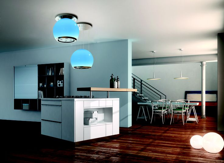With Arkea you can choose your favourite colour or alternate between a wide range of colours in a loop, thanks to its cutting-edge Led Rgb spotlights. With its up & down technology, it also offers maximum comfort and practicality in the kitchen: operated by remote control, Arkea gently lowers onto the hob when activated, increasing its efficiency. When the hood is no longer needed, it rises towards the ceiling with a simple press of a button returning to its original position.