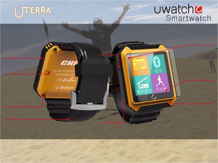 spezifikationen für smartwach Uterra Uwatch:Bluetooth Smart watch Uterra Wasserdicht IP68 Schrittzähler SmartWatch Armbanduhr mit Kamera TF karte Für iPhone Android Samsung HTC* produkt größe: 44*50,5*11,4mm* produkt gewicht: 47g* Material: mainframe kunststoff Wirst strap: TPU* Bildschirmgröße: 1,6 zoll, 240*240 Display, touchscreen* sprache: Englisch, russische, spanisch, portugiesisch, türkische, italienisch, französisch, deutsch, hebräisch, finnische, arabisch, persische, Thai, polnisch…