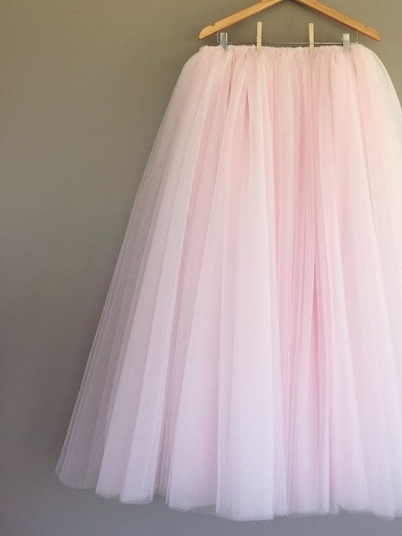 Pink Tulle Skirt Floor Length Adult Valentines Day ANY COLOR
