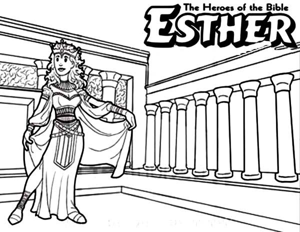 Queen Esther The Bible Heroes Coloring Page NetArt