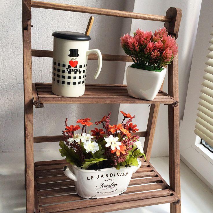 Искусственное растение Red Flowerbed