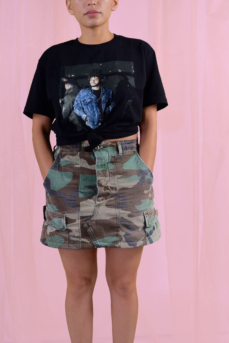 Camo Skirt for women, Camo skirt, Camo Pants, camouflage skirt, reworked  camouflage