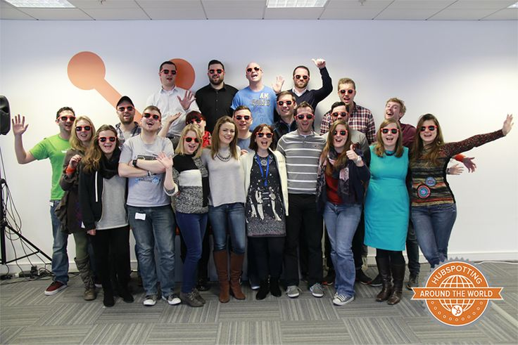 HubSpot opened its first international office in Dublin, Ireland in early 2013- here's the awesome DubSpot team saying cheers! #hubspotting