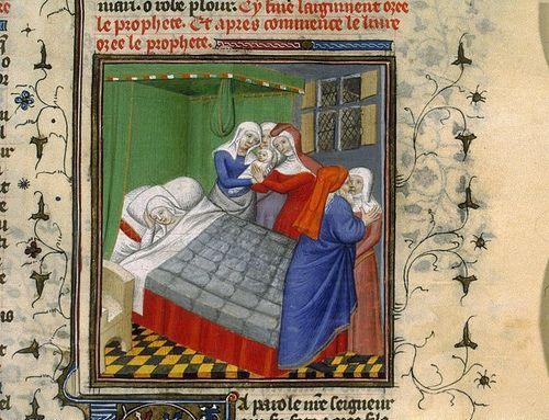 Image result for medieval manuscript childbirth