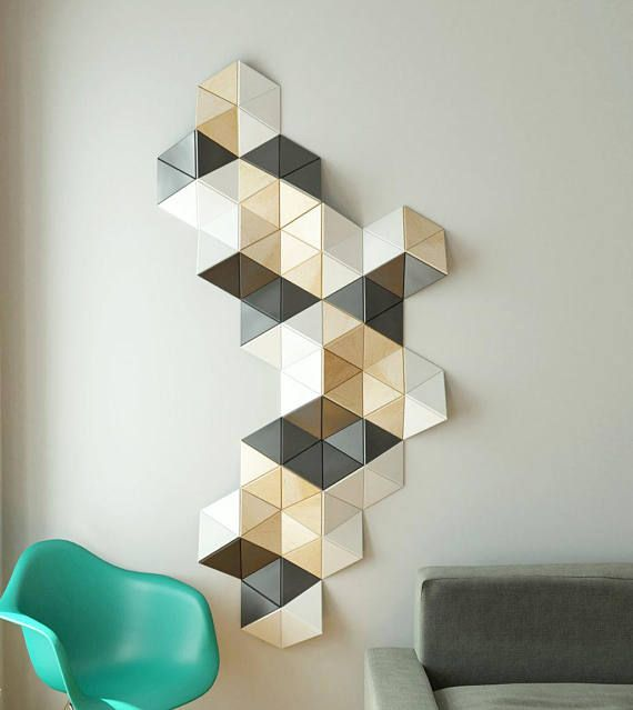Cell Decorative Wall Sculpture Cell Is A 3d Wooden Wall