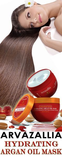 Arvazallia Hydrating Argan Oil Hair Mask and Deep Conditioner is Guaranteed to Make Your Hair Softer and Silkier. You will Fall In Love With Your Hair Again. Click Here to Learn More >> www.arvazallia.co...