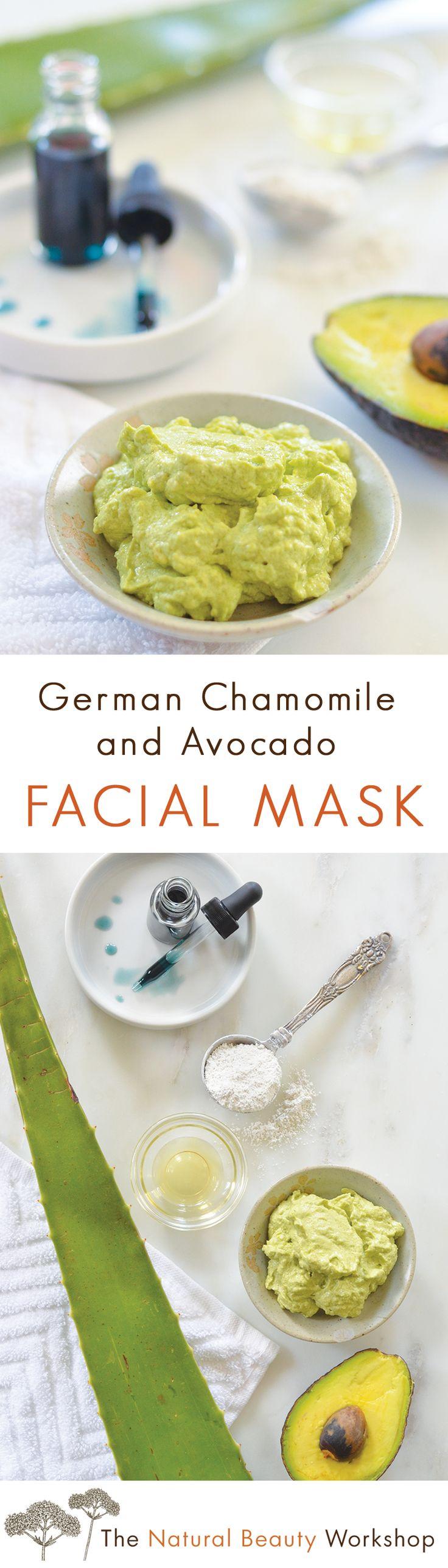 German Chamomile and Avocado Facial Mask Recipe