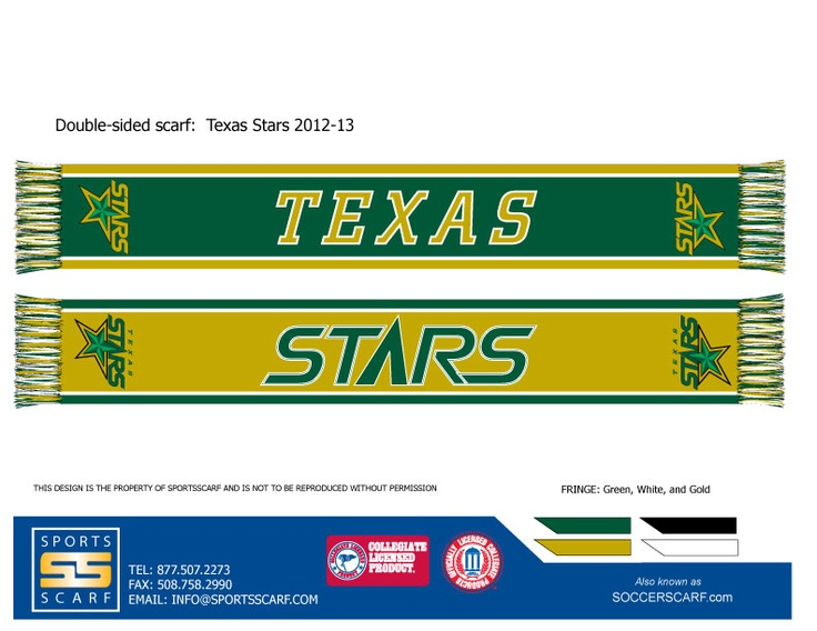 2012-13 Texas Stars hockey scarf from SportsScarf!  Get yours today!