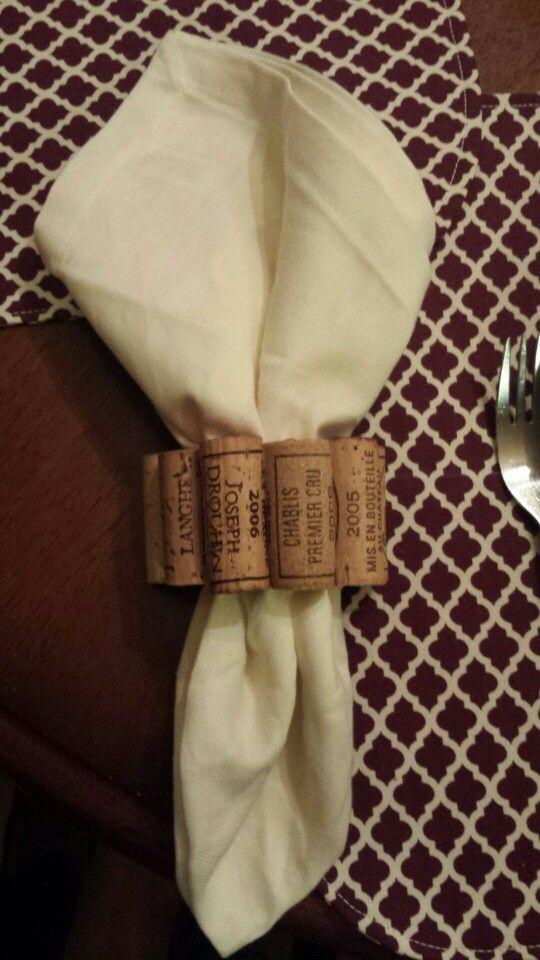 My creation: wine cork napkin holder