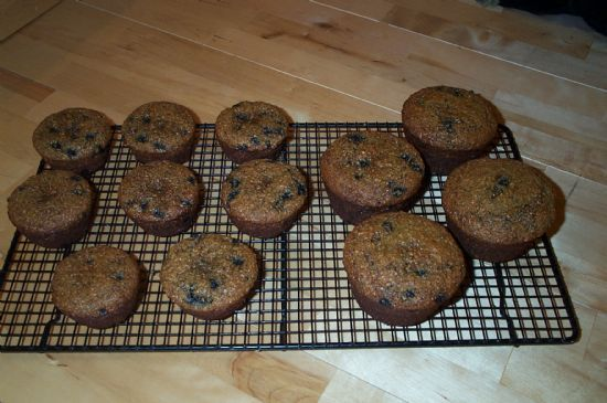 Low-Fat, Low-Calorie, High-Fiber, High-Protein Blueberry Bran Muffins Recipe via @SparkPeople