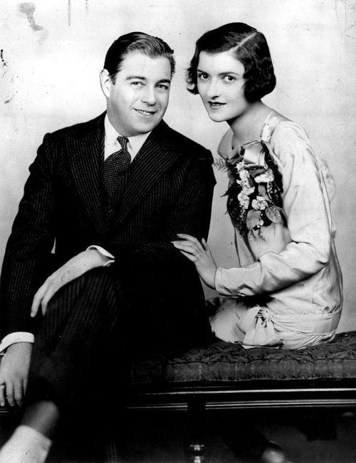 Barbara Bennett with first husband Morton Downey (m. 1929–1941) divorced; 5 children Michael, Lorelle, & sons Morton Downey Jr,, Anthony, & Kevin.