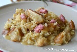 Risotto con funghi porcini e pancetta ricetta primo piatto