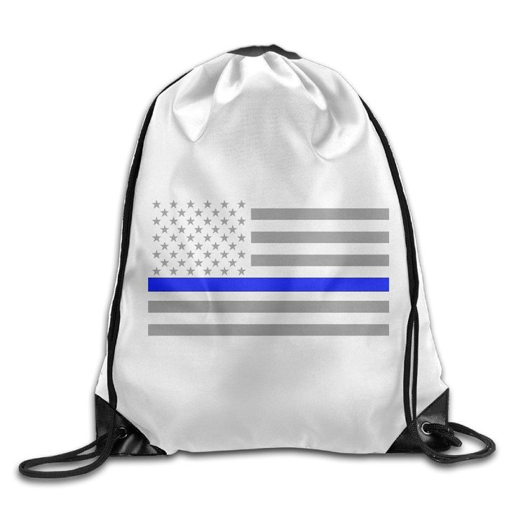 Aip-Yep Custom Thin Blue Line American Flag Cool Teenager Bag White * Unbelievable product right here! : Air Lounges