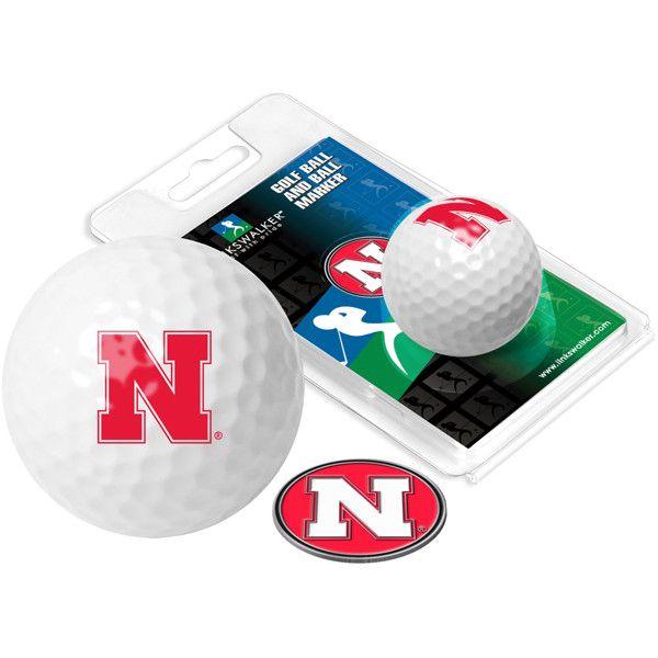 Nebraska Cornhuskers - Golf Ball One Pack with Marker