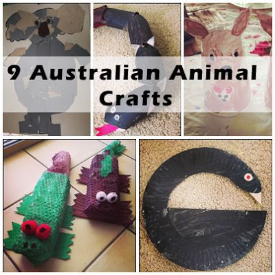 A collection of 9 Australian animal craft ideas with links to printables - Suzies Home Education Ideas