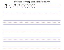 math worksheet : worksheet generator for kids to practice writing their phone  : Kindergarten Worksheet Generator