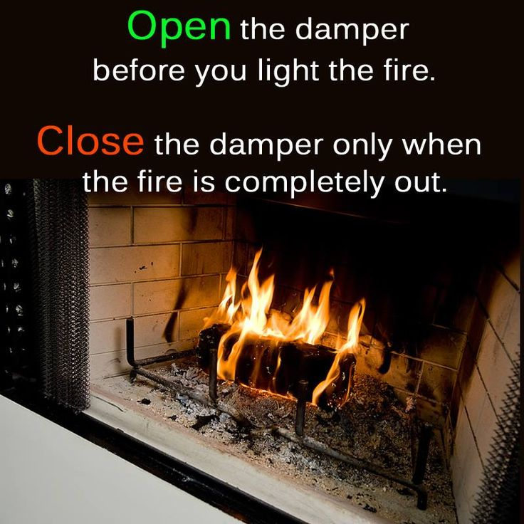 Not sure how to open and close the fireplace damper?