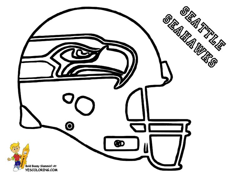 28_seattle_seahawks_football_coloring_at_coloring pages book for kids seattle seahawks coloring page - Football Coloring Book