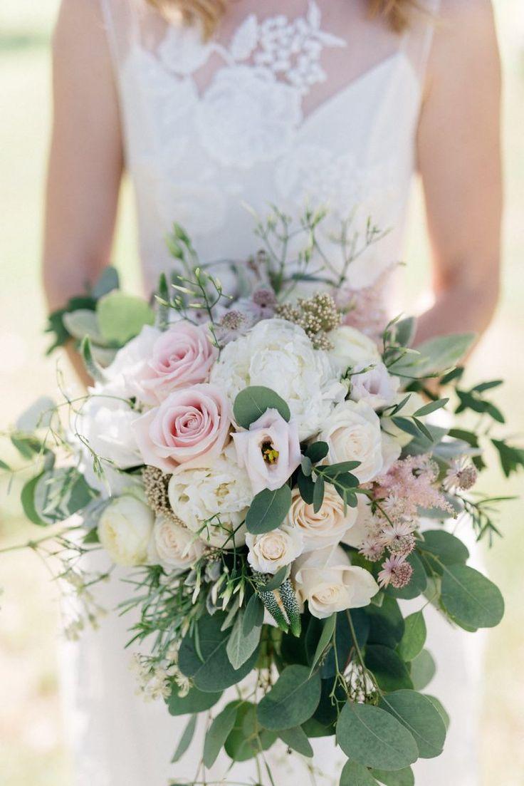 Ramo de novia blanco verde