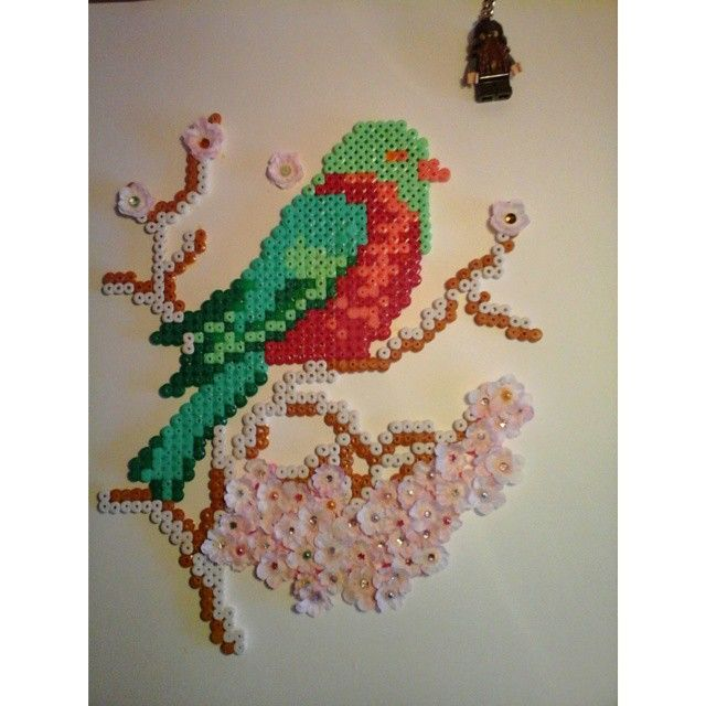 Bird creation hama perler beads by kimlageek
