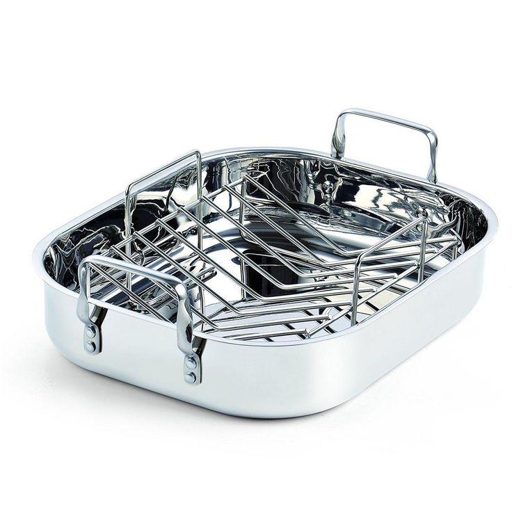 Cooks standard 12 qt stainless steel roaster roasting pan