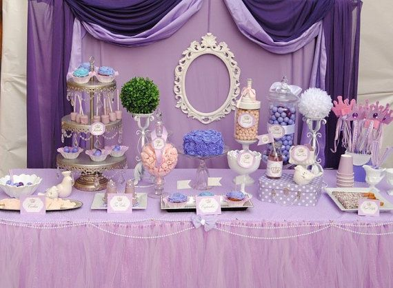 Purple Princess Birthday Party Royal Tea Party By