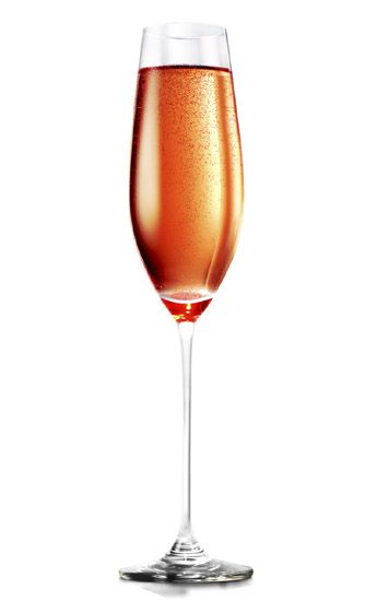 """Brunch Date"" - Pinnacle Cinnabon Vodka, cranberry juice, and champagne. via Lushworthy.com"