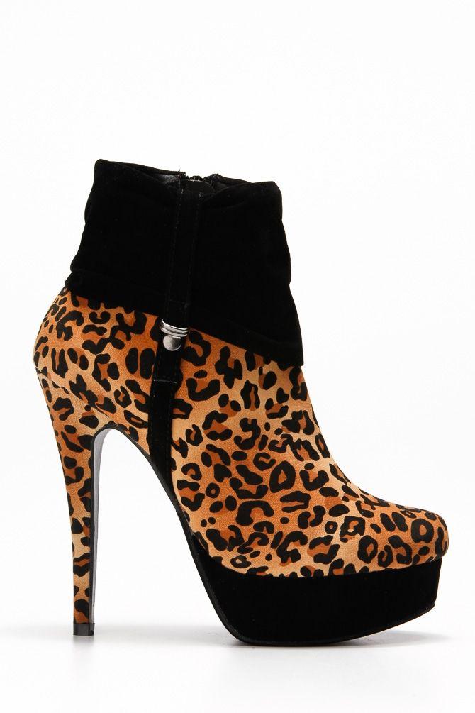 Crunched Platform Heel Booties - Shoes