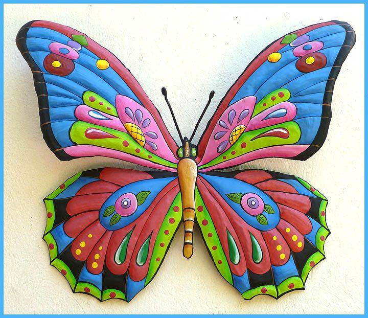 301 best butterflies hand painted metal butterfly art for Art 1576 cc