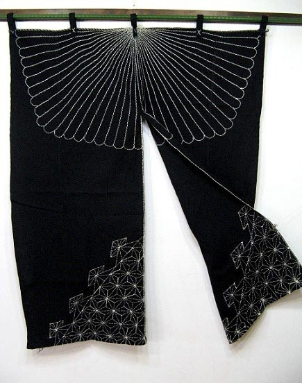 old noren with sashiko design available on ebay