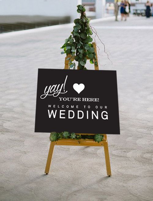 Printable Wedding Sign Wedding Welcome POSTER 3 by P27Creative