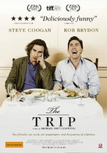The Trip, starring Steve Coogan and Rob Brydon playing versions of themselves. I adore them. This movie is hilarious, and is even better if you have prior knowledge of the duo and their work, but it's not necessary. It's streaming on Netflix Instant and I cannot recommend it highly enough!