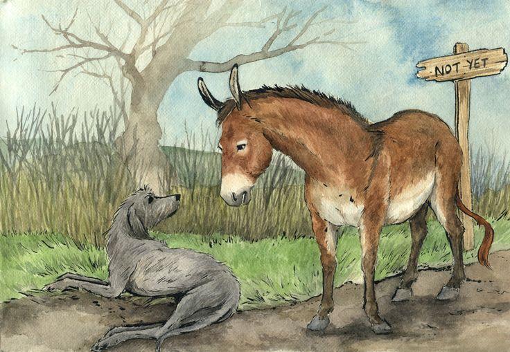 donkey meets dog