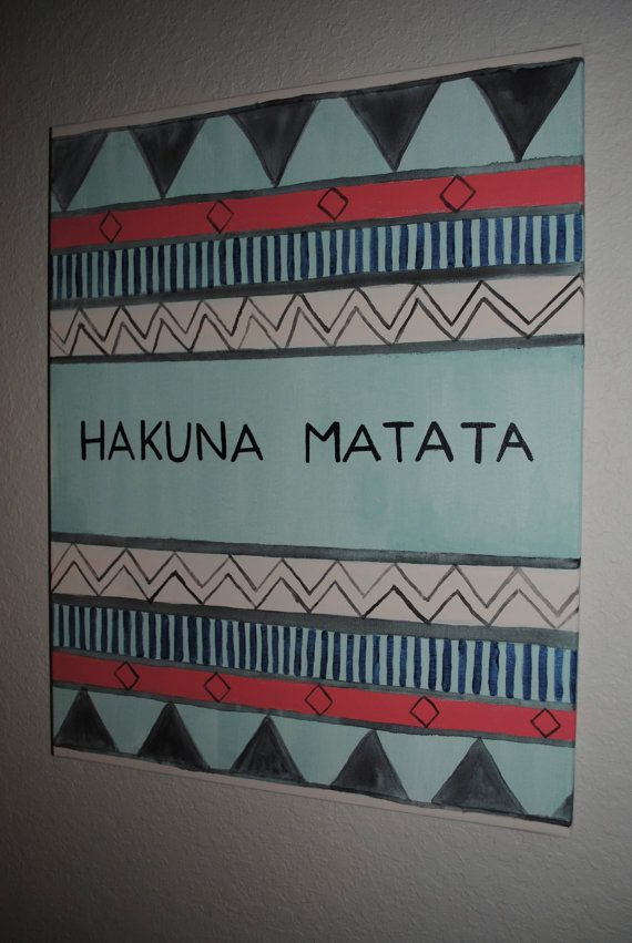 Hakuna Matata Canvas by thegirlsinpearls on Etsy