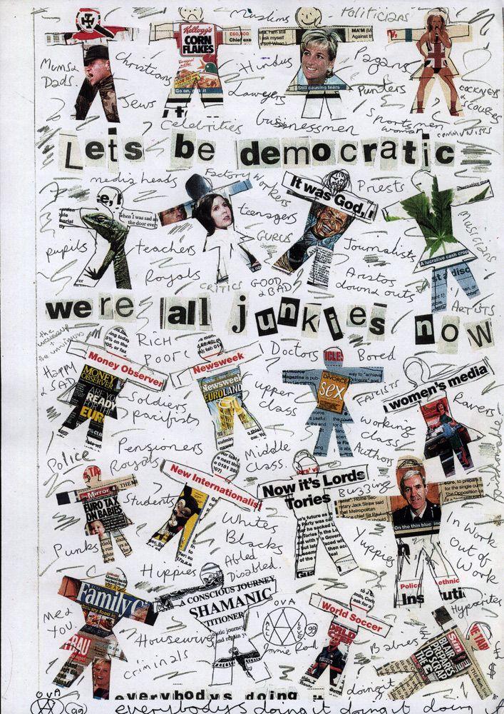 Jamie Reid • jamiereid.org • Let's Be Democratic