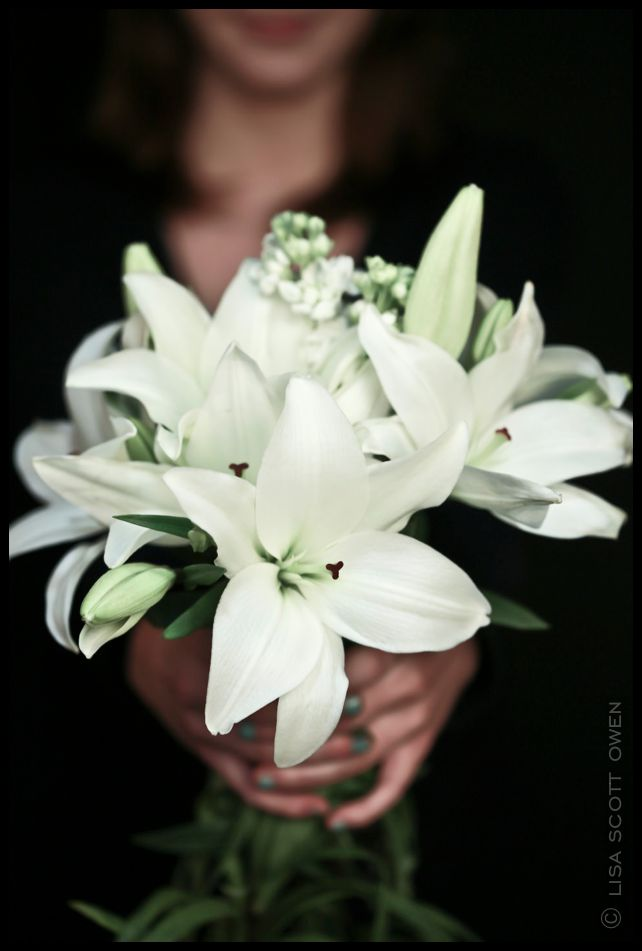 white-lilies #wedding #flowers white #bouquet The Mark Olympia