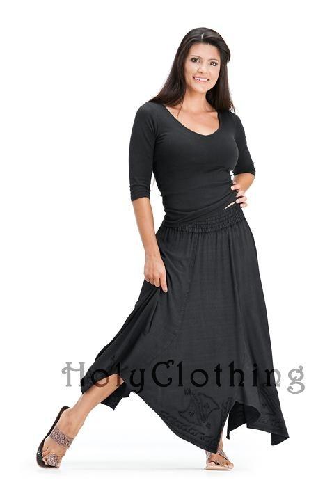 e3596b64a8 Shauna Mega Flare Embroidered Boho Gypsy Hippie Dance Skirt - Skirts -Long  Dance Skirt inspirations