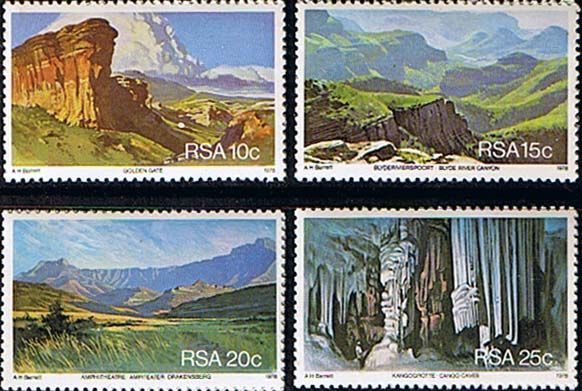 South Africa 1978 Tourism Set Fine Mint SG 451 4 Scott 511 14 Other South African Stamps HERE