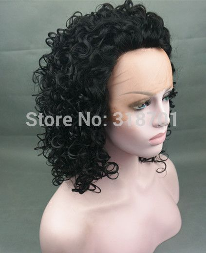 LACE FRONT Thick Twirly Wig Black SUPER SALE free shipping