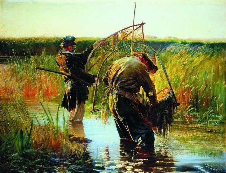 Leon Jan Wyczolkowski - Wading fishermen,1891