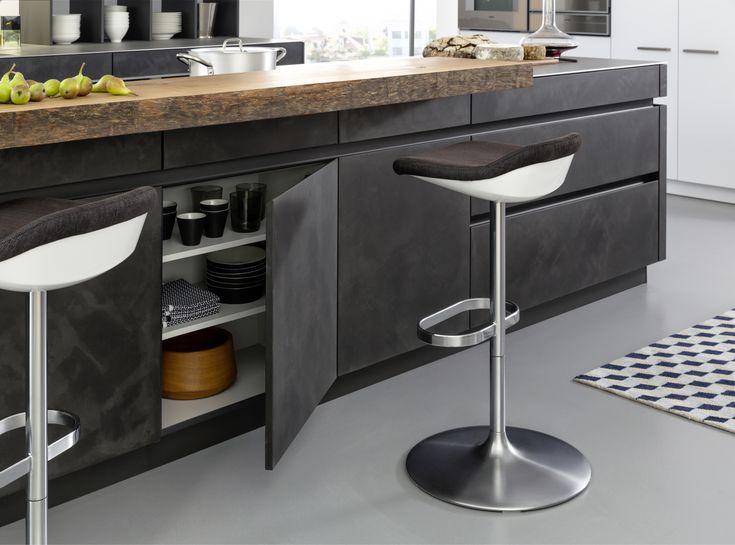 Fotos Auf FOCUS Online: Die Küche Concrete Von Leicht Küchen Besteht Aus  MDF Platten, Auf Die Eine Feine Betonschicht Von Hand Aufgebracht Wurde.