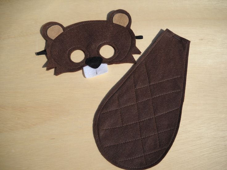 Beaver Mask and Tail for child. $16.00, via Etsy.