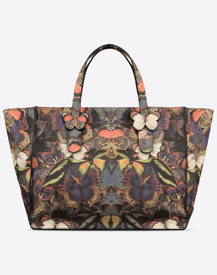 Valentino Online Boutique - Women Fall/Winter 2015 16, Valentino Camubutterfly Tote.