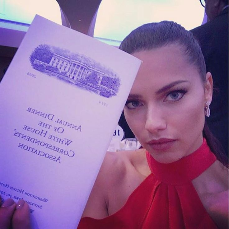 At The White House Correspondents Dinner    Adriana Lima