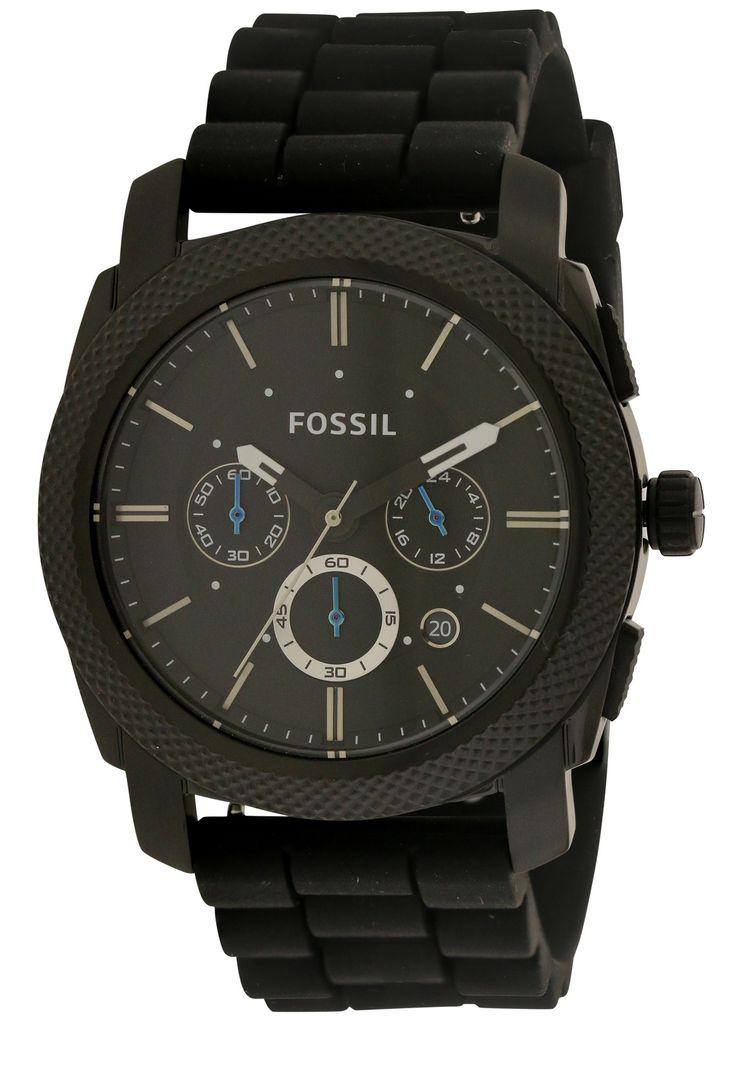 Fossil FS4487 Men's Black Rubber 45MM Quartz Analog Chronograph Watch
