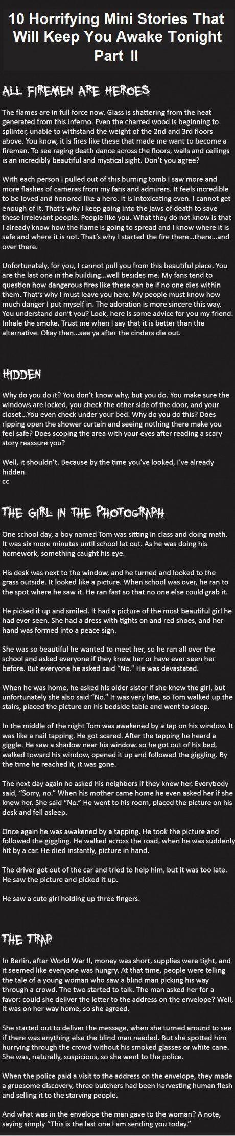 Horrifying Mini Stories 7-10