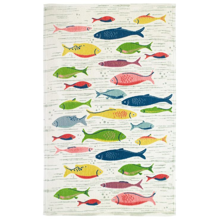11 best images about ideal home nautical bathroom on for Fish bath mat