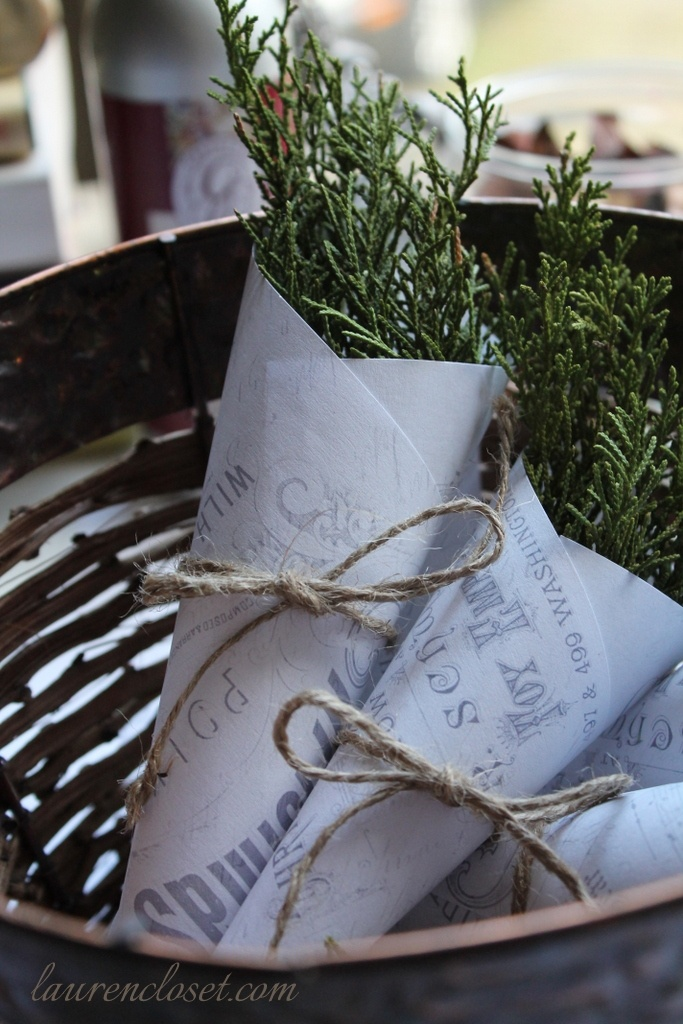 Fenyőágak (pine branches)