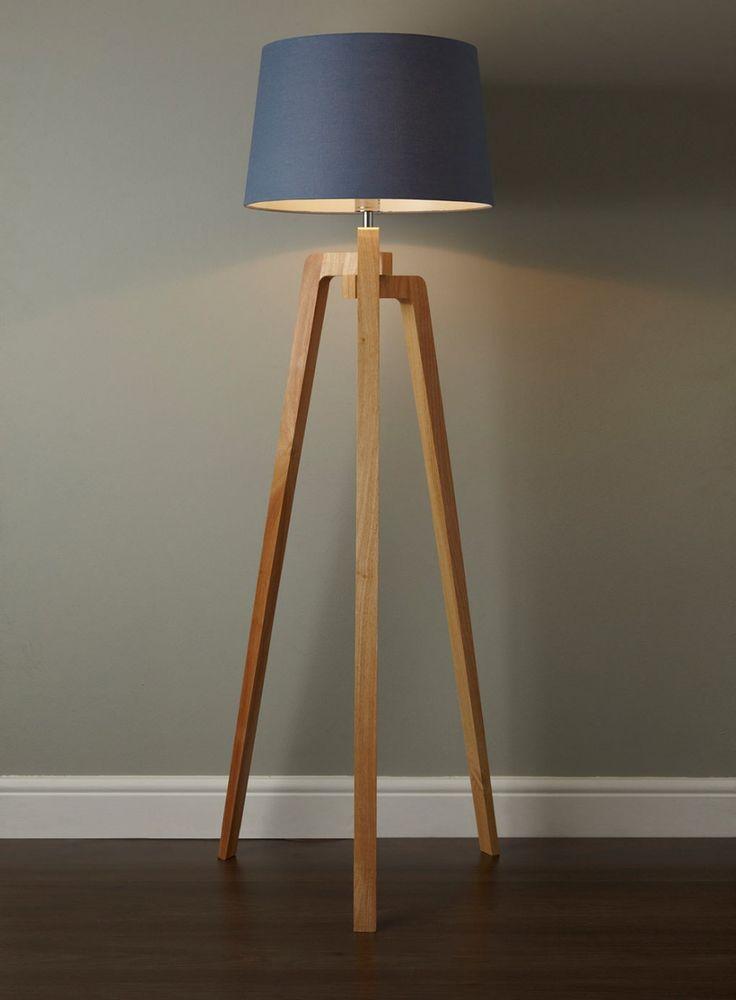 Delightful Unique Tripod Floor Lamp With Brown Wooden